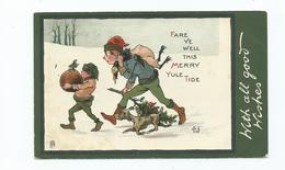 Christmas Postcard Elves Fare Ye Well  Tuck's Posted 1903   Torquay Elves - Altri