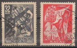 Macau Portugal China Chine 1950 - Ano Santo - Holy Year - Set Complete - Used - Usado - Afinsa 349 350 - Macao