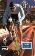 USA - Bank Card, PrePaid Card › Wachovia, Visa, Salute To Atlanta, Cycling, 20$, 1992, Used - Cartes De Crédit (expiration Min. 10 Ans)