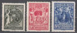 Liechtenstein 1932 Mi#116-118 Mint Hinged - Unused Stamps