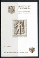 Andorra (Fr.) 1979 IYC International Year Of The Child MS MUH - Andorra Francesa