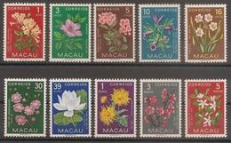 Macau Portugal China Chine 1953 - Flores De Macau - Indigenous Flowers - Set Complete - Mint MNH / Neuf - Af. 374 A 383 - Macao