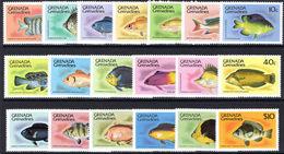 Grenada Grenadines 1980-87 Fishes, No Imprint Unmounted Mint. - Grenada (1974-...)