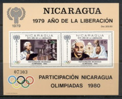 Nicaragua 1980 IYC International Year Of The Child Einstein MS MUH - Nicaragua