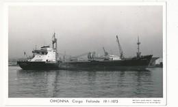 CPSM - Cargo OIHONNA - Finlande - 19/03/1973 - Cargos