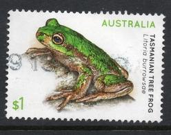 2018 AUSTRALIA GREEN FROG VERY FINE POSTALLY USED  $1 SHEET Stamp - 2010-... Elizabeth II