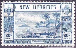 NEW HEBRIDES 1938 30c Blue SG57 FU - Usati