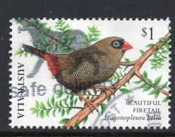 2018 AUSTRALIA BIRD FIRETAIL  VERY FINE POSTALLY USED $1 SHEET Stamp - Oblitérés