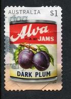 2018 AUSTRALIA ALVA DARK PLUM JAM LABEL VERY FINE POSTALLY USED $1 BOOKLET Stamp - Oblitérés
