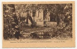 """CPA - GAREOULT / FORCALQUEIRET (Var) - Restaurant """"le Pavillon"""" - Terrasse Du Pavillon - Altri Comuni"""