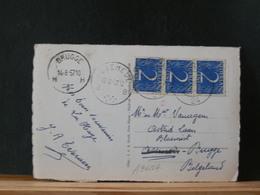 A9618A   BRIEFKAART NAAR BELG. 1957 AANKOMSTSTEMPEL BRUGGE - Period 1949-1980 (Juliana)