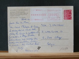A9622A   BRIEFKAART NAAR BELG. - Lettres & Documents
