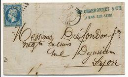 AUBE LAC 1864 BAR SUR SEINE PCGC SUR N°22 - 1849-1876: Période Classique