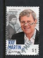 2018 AUSTRALIA LEGENDS RAY MARTIN VERY FINE POSTALLY USED $1 Sheet STAMP - 2010-... Elizabeth II