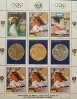 O) 1988 PARAGUAY, OLYMPIC TENNIS SEOUL, STEFFI GRAF - OLYMPIC GOLD MEDAL - BORIS BEAKER - EMILIO SANCHEZ, MNH - Paraguay