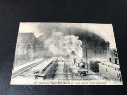 30 - Le Hall De La Gare St Jean. En Quittant BORDEAUX Je Vous Envoie Mon Souvenir - 1924 Timbrée - Bordeaux