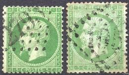 "NAPOLEON NON LAURE N° 20 VARIETE "" PETIT TIMBRE "" - 1862 Napoleon III"