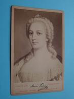 Maria Theresia, Kaiserin V. OESTERREICH (493) Signature ( CABINET Photo : E. HADER / Sophus Williams Berlin ) ! - Photos