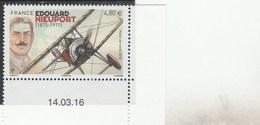 FRANCE 2016 NEUF EDOUARD NIEUPORT POSTE AERIENNE YT PA80 - PA 80 + DATE -                                  TDA263 - 1960-.... Neufs