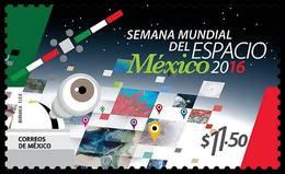 2016 MÉXICO Semana Mundial Del Espacio ONU MNH World Space Week, UN, SATELLITE   TELESCOPE Sc 3022 MNH - Messico