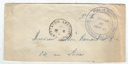 LETTRE FM INCOMPLETE EN BAS CASSENEUIL LOT ET GARONNE 1941 + SERVICES DES DEMOBILISES GROUPE N°1714 - Marcofilia (sobres)