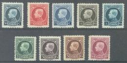 BELGIQUE - 1922 - MVLH/* - ALBERT I PETITS MONTENEZ - COB 211-219  Lot 19771 - VERY LIGHT HINGED NEARLY MNH/** - 1921-1925 Small Montenez