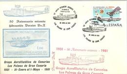 MATASELLOS 1981  LAS PALMAS  DORNIER DO.X - 1931-Hoy: 2ª República - ... Juan Carlos I