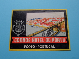 Grand Hotel Do PORTO > Porto Portugal (format +/- 12 X 9 Cm.) > ( Imp......) > Detail Zie/voir Photo ! - Etiquettes D'hotels