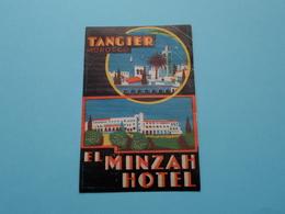 EL MINZAH Hotel > TANGIER Morocco (format +/- 10 X 6,5 Cm.) > ( Imp......) > Detail Zie/voir Photo ! - Etiquettes D'hotels