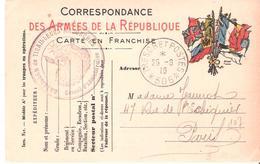 TRESOR ET POSTES * 506 * + Cachet BATAILLONS DE TIRAILLEURS MALGACHES Sur Carte De FRANCHISE MILITAIRE - WW I