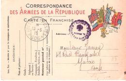 TRESOR ET POSTES * 506 * + Cachet PIROSCAFO ATLANTICO Sur Carte De FRANCHISE MILITAIRE - WW I