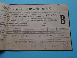 La Securité Française à Bruxelles > Timbre Date 1943 ( Gekleefde Hoekjes > Collez ) > Detail Voir Photo ! - Bills Of Exchange