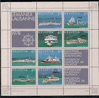 1978 Schweiz  Yv. BF 23 Mi. Bl. 23 **MNH   LEMANEX '78, Lausanne - Blokken