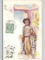 NAPOLI - Tipo Napoletano- Venditore Di Agli E. Lecaldano Artista ? C. 1904 - Napoli (Naples)