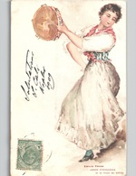 NAPOLI - Tarantella - Cartolina Artistica Ed. Emilio Prass C. 1904 - Napoli (Naples)