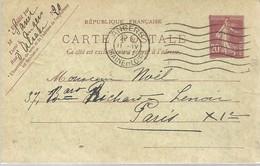 CARTE POSTALE  1922  ANGERS - Enteros Postales