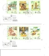 Cuba - Vie Des Premiers Indiens ( 2 FDC De 1985 à Voir) - FDC
