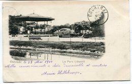 CPA - Carte Postale - Belgique - Ostende - Le Parc Léopold - 1900 (B9137) - Oostende