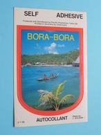 BORA-BORA Autocollant Self Adhesive ( Photo T. SYLVAIN - S.T.56 ) ( See/voir Photo / Format Total 8 X 12 Cm. ) ! - Autocollants