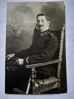 Militaria ITALIE - Carte Photo Officier (Aviation ? Voir Manche)- TBE - Militares