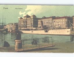 Fiume Rijeka Riva Szápáry Hafen Schiffe Steamer C. 1908 - Croatie