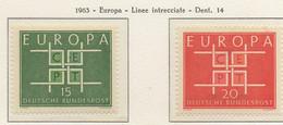 PIA - GERMANIA - 1963  :  Europa  -  (Yv 278-79) - Europa-CEPT