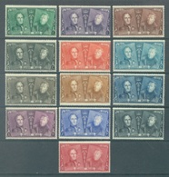BELGIQUE - 1925 - MVLH/* CERTAIN NEARLY MNH/** - SERIE COMMEMORATIVE LEOPOLD ALBERT- COB 221-233 - Lot 19772 - Belgien