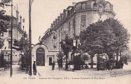 PARIS - Caserne Des Pompiers - Avenue Gambetta Et Rue Haxo - Francia