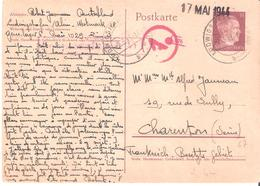 Courrier D'un Travailleur Du S.T.O. à LUDWIGSHAFFEN Adressé à CHARENTON - Guerre De 1939-45