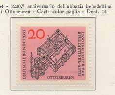 PIA - GERMANIA - 1964 :  1200° Anniversario Dell' Abbazia Benedettina Di Ottobeuren -   (Yv 296) - Cristianismo