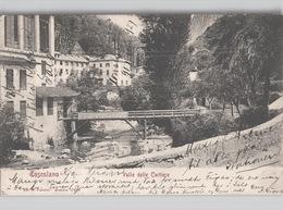TOSCOLANO Valle Delle Cartiere Ed. Pandini  Andata C. 1904 - Brescia