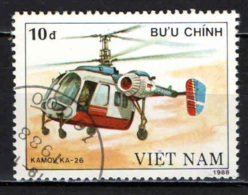 VIETNAM - 1989 - ELICOTTERO - HELICOPTER - USATO - Vietnam