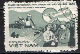 VIETNAM - 1984 - PROGETTO DI SVILUPPO TRA VIETNAM ED UNIONE SOVIETICA - USATO - Vietnam