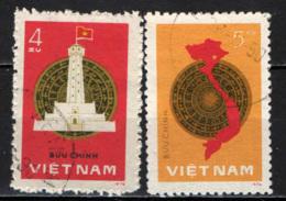 VIETNAM - 1977 - 1° ANNIVERSARIO DELL'ELEZIONE DELL'ASSEMBLEA NAZIONALE UNIFICATA - MAPPA DEL VIETNAM - USATI - Vietnam